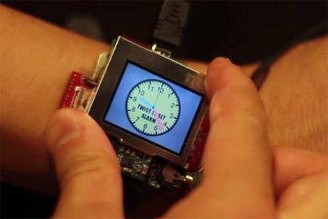 futuristic gesture controlled smartwatch design