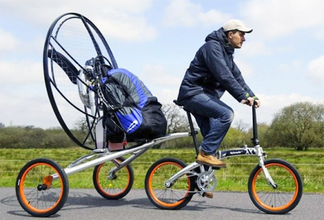 pedal powered flying bike