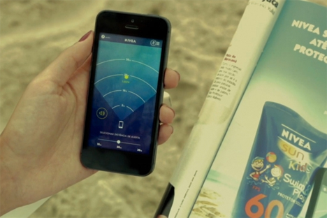 tracking app nivea bracelet ad