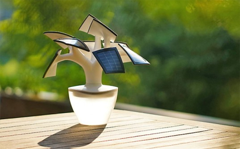 bonsai tree inspired solar phone charger