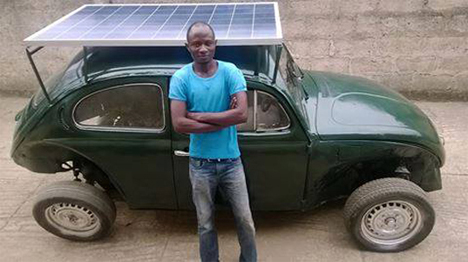 eco-friendly ngerian student solar car