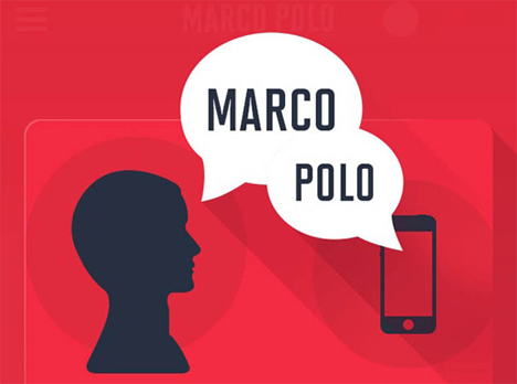 find iphone marco polo app