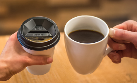 improved to-go coffee cup lid design