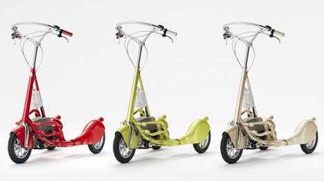 motorized walking bicycle