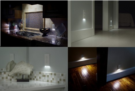 outlet shaped led nightlights