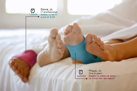 programmable acupressure waking sock