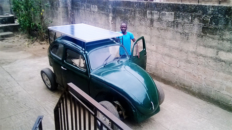 solar powered nigerian student car