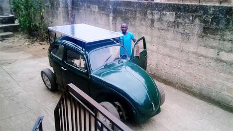 solar powered nigerian student car