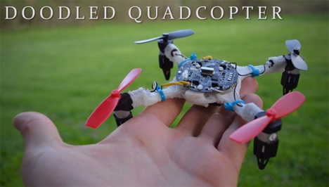 working 3d doodled quadcopter