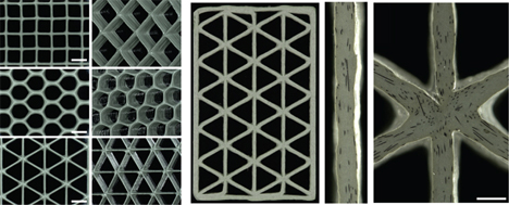 3d printed honeycomb polymers