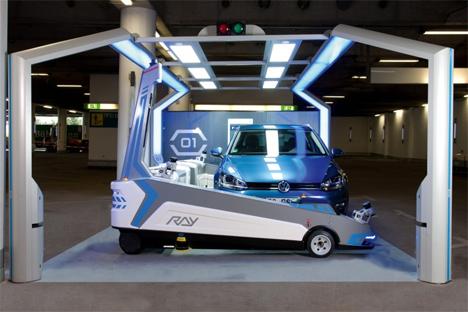 autonomous parking garage robot