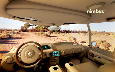 electric solar powered car concept nimbus