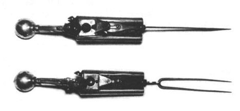 guns disguised as cutlery