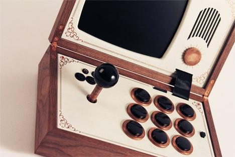 handcrafted arcade cabinet