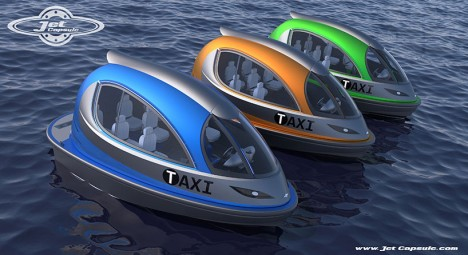 jet capsule colorful taxis