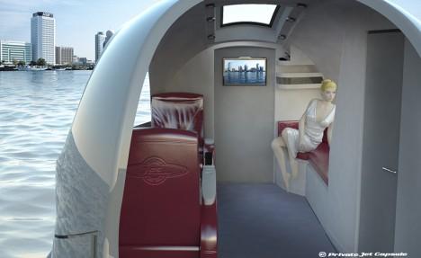 jet taxi interior shot
