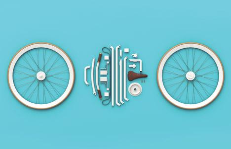 kit bike parts pictue