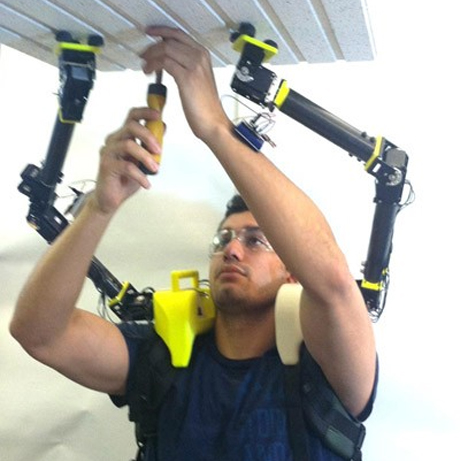 shoulder mounted supernumerary robotic limbs