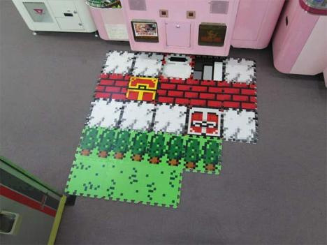 video game floor mat tiles
