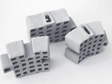ceramic construction blocks snap together