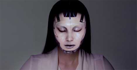digitally projected makeup