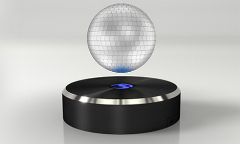 disco ball levitating sphere speaker
