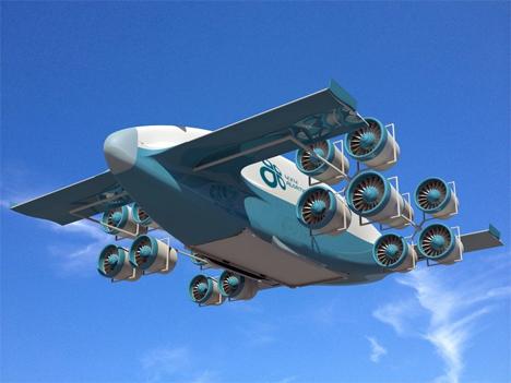 electric tilting fan cargo plane