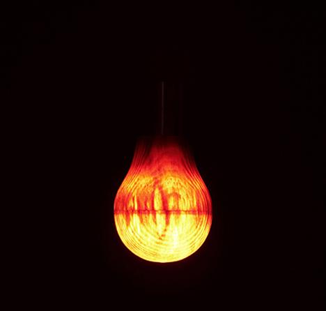 led wooden light