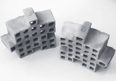 lightweight ceramic snap together building blocks polybricks
