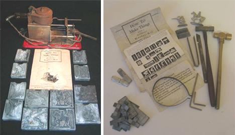 metal casting kit detail