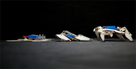 pop-up self-assembling robots