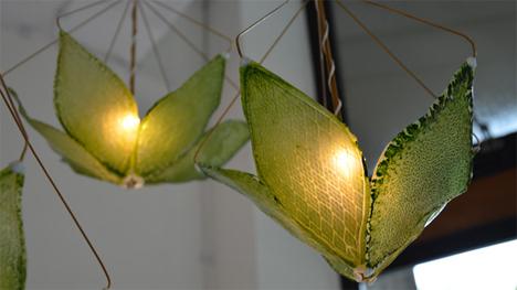 silk leaf light fixtures