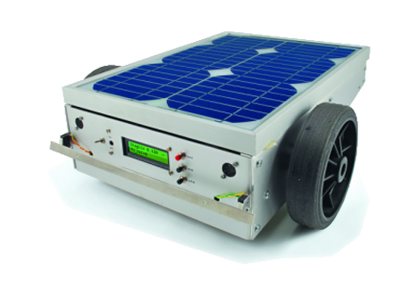 solar powered robotic lawnmower