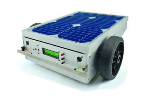 solar powered robotic lawnmower