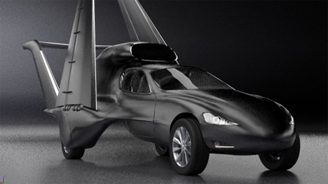 transforming flying car