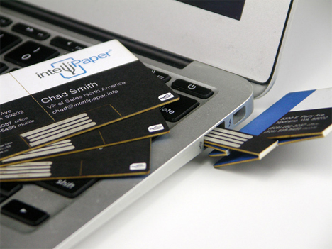 usb enabled business card