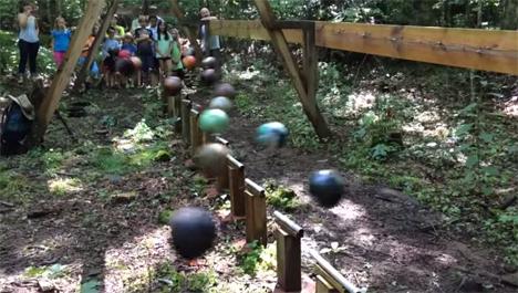 bowling ball pendulum wave