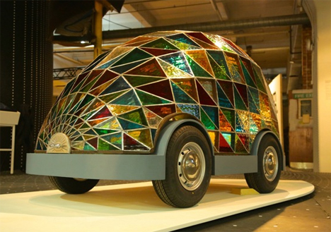 dominic wilcox driverless stained glass car