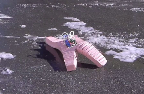 flexible rubbery indestructible robot