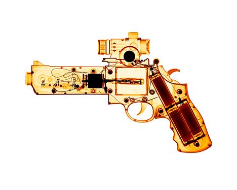 orange toy gun