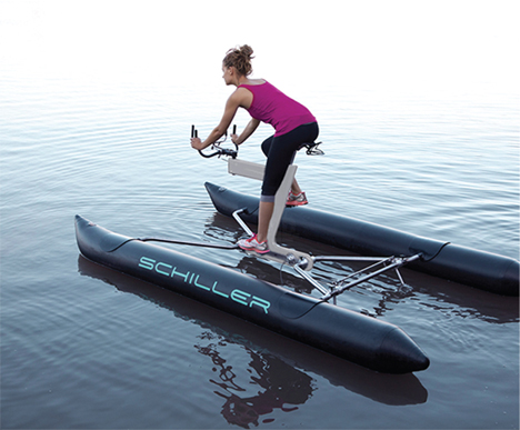 Across The Blue Water Bike Takes Cycling To The Streams Gadgets