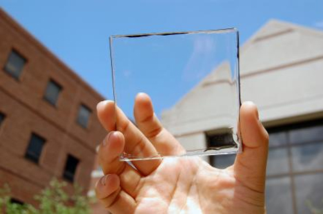 see-through clear solar power harvesters