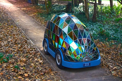 self driving stained glass car