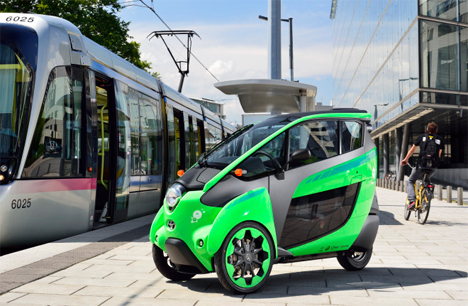 toyota i-road and coms electric cars grenoble