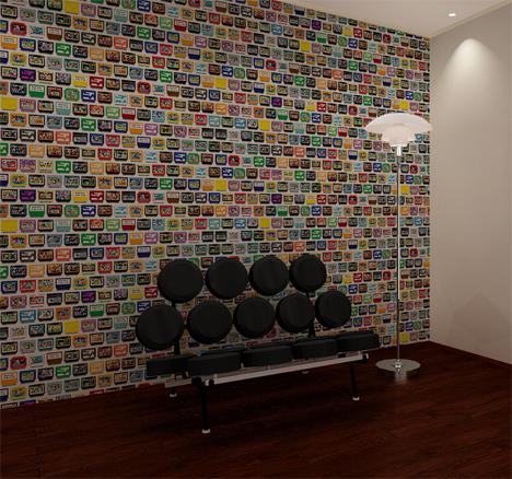 8 bit pixel game cartridge wallpaper