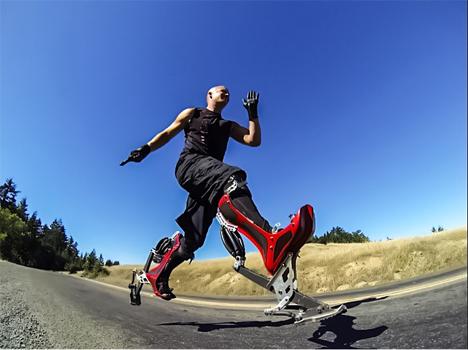 augmented human running bionic boot