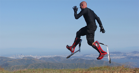 bionic boot faster running ostrich inspired