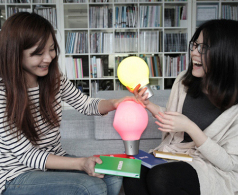 color changing squeezable lamp