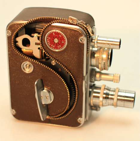deconstructed zipper video camera