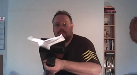 diy paper airplane gun